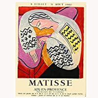 HZLYCH Matisse抽象キャンバス印刷ポスター壁アートリビングルームの家の装飾-50X70CMフレームなし