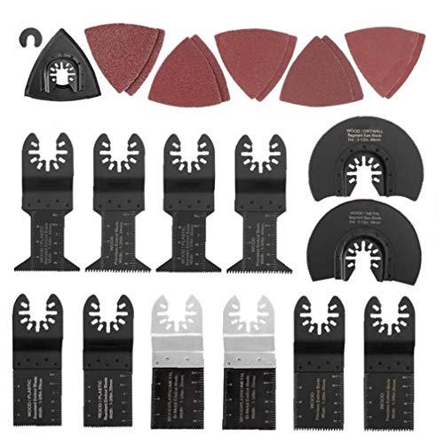 ZYCX123 Sierra oscilante de la Herramienta Kit de Accesorios para lijar Metal Madera Multiherramienta plástico para el Artesano de la Motosierra Accesorios 40PCS