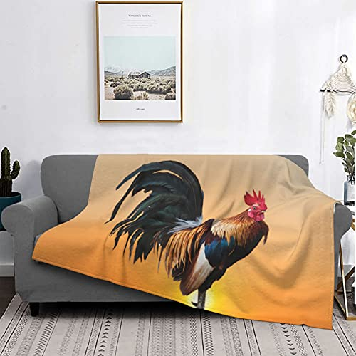 Dachangtui Manta Mantas de Microfibra Ultra Suaves, Sunny Big Cock, Manta Suave y Ligera para sofá Cama, Sala de Estar, 50 'x 60'