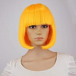 Peluca de moda para mujer Peluca BOB peluca sintética de pelo corto azul rojo gris rosa peluca de fiesta de fibra de alta temperatura para fiestas-FEN HONG SE