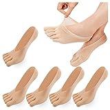 De Las Mujeres Del Dedo Del Pie De Cinco Dedos Calcetines Suave Y Transpirable Escotados Calcetines De Las Medias De Seda Para Las Niñas Mujeres