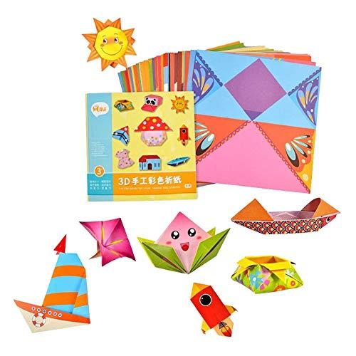 Colcolo Origami Papel Meninas Artesanato Oragami Kits Crianças Meninos Meninas Arte Crianças Kits de Arte para Crianças de 3 a 10 - Vida