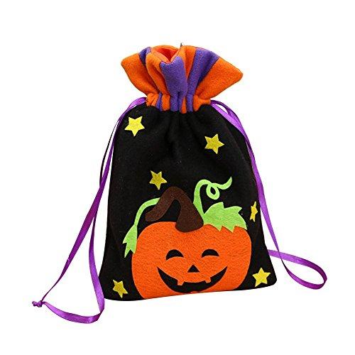 Dosige Candy Sac à Main pour Enfants Flanelle Halloween Sac Fourre-Tout 1 Pcs (Citrouille)