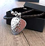 Customized mens necklace, Birthday Gift For Musician, Guitar Pick Jewelry, Anniversary Gifts for Him