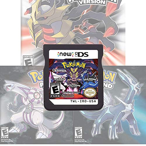 Pokemon Platinum Pearl Diamond 3-in-1 Version Games Card Compatible with Nintendo DS/2DS/3DS/DSI/2DSXL/3DSXL (Not Support Above Version 11.0) - Reproduction Version
