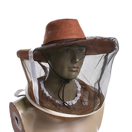Pak van 2 insectenvliegen, anti-muggen- en insectenvliegen, met vijver-hoofdbescherming, outdoor-vizieruitrusting