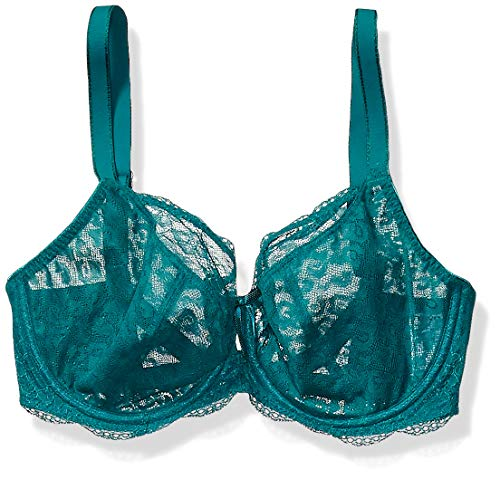 Freya Women's Fancies Plunge Lace Underwire Bra with Gated Low Back, Emerald, 28E