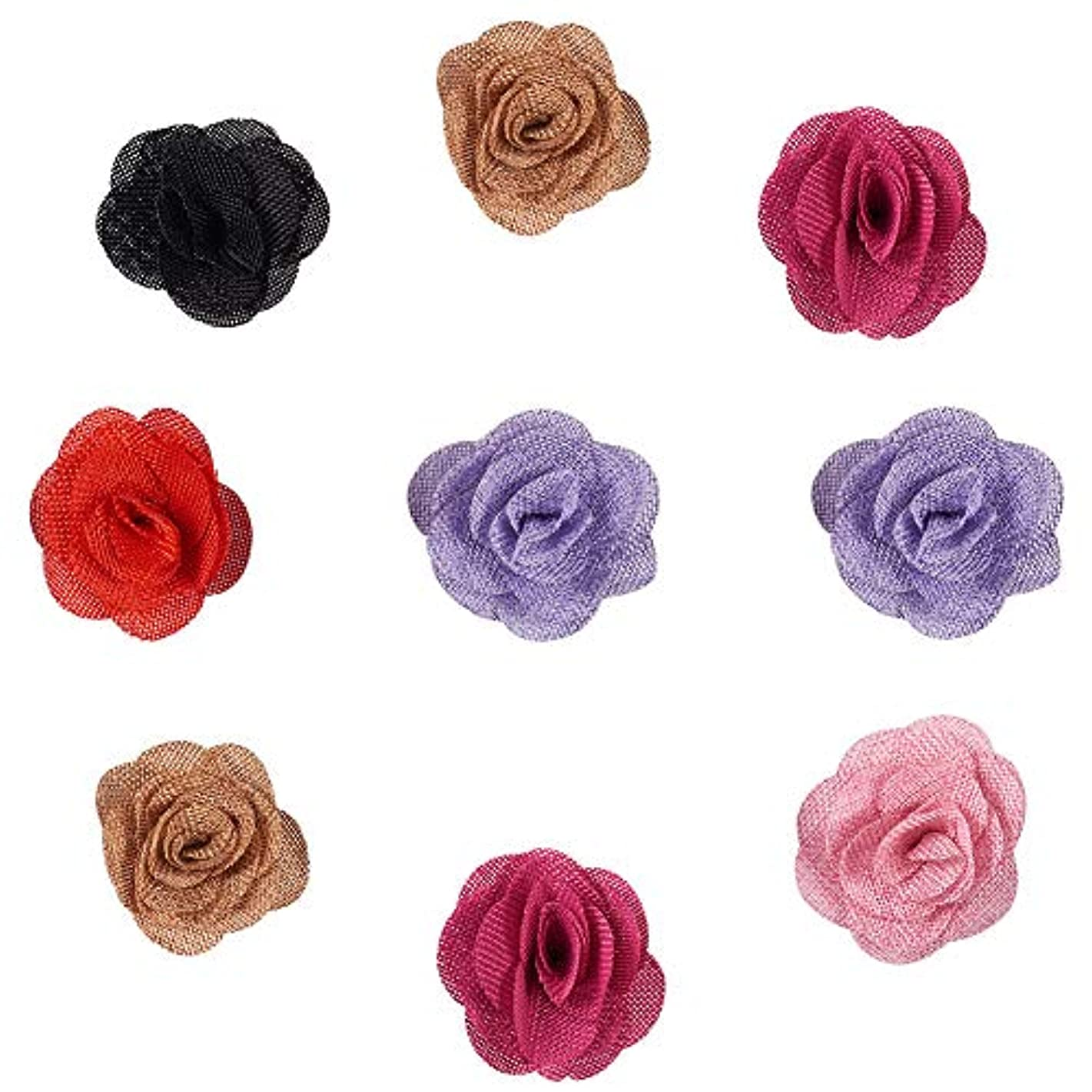 PH PandaHall 12PCS 6 Color Burlap Flowers Packs Wedding Decorations Burlap Rose Linen Flower for DIY Craft Making and Christmas Home Wedding Party Decoration