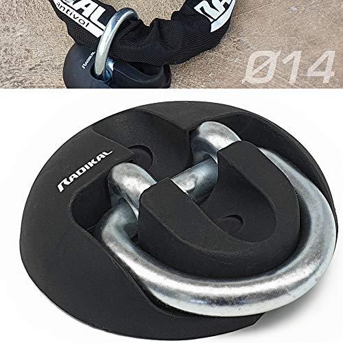 RADIKAL RK54 Wand-und bodenanker für Motorrad, Wohnwagen, Anhängergarage, hochfester Stahl mit Schwingarm