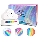 Bath Bombs Gift Set, Rainbow Cloud Bath Bombs, Handmade Spa Bath Bombs with Skin Moisturizing Ingredients, Bubble Bath Bombs Gift Set, Best Birthday Gift for Kids/Women/Men, Mother's Day, Set of 2