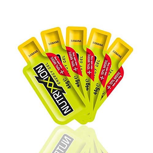 Nutrixxion GEL ENERGÍA con BCAA, Vitaminas y Minerales Set 5 x 44g, FlavorName Banana