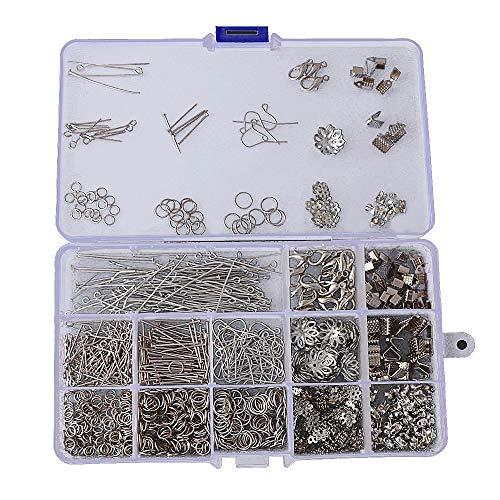 Kit de Hacer Bisutería, 960 Pezas Kit de Fabricación de Pendiente Jewelry Making Kit para Manualidades,Suministros para Collares