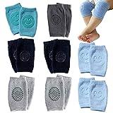 NEPAK 8 Pairs Baby Crawling Knee Pads,Anti Slip,Baby Knee pads, Unisex