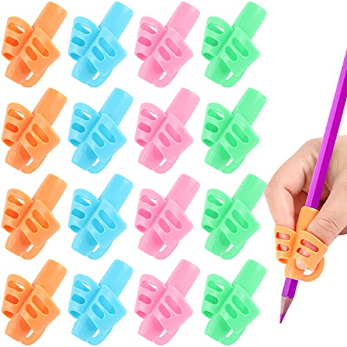 16 Pack Pencil Grips for Kids Handwriting, Pencil Holder for Kids, Handwriting Grip, Ergonomic Training Pencil Grips, Writing Tool for Toddlers, Preschoolers, Children,3 Finger Grips