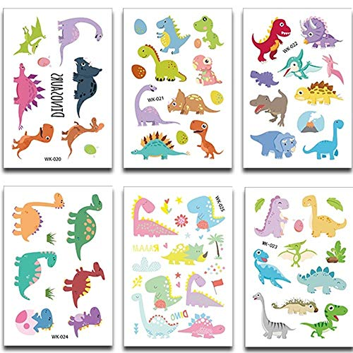 Dinosaur Temporary Tattoos for Kids Great for Children Party Favors Dino Birthday Party