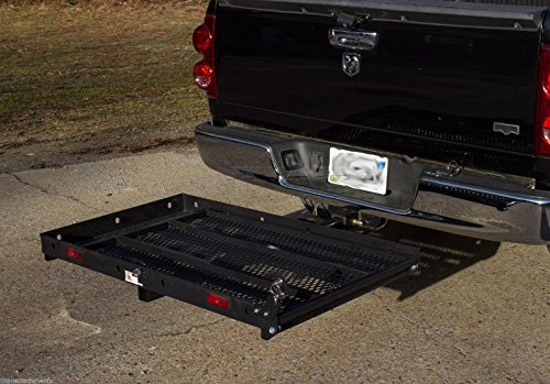 Titan Ramps Hitch Mounted Wheelchair Scooter Mobility Carrier Medical Rack Ramp MC400 SC400