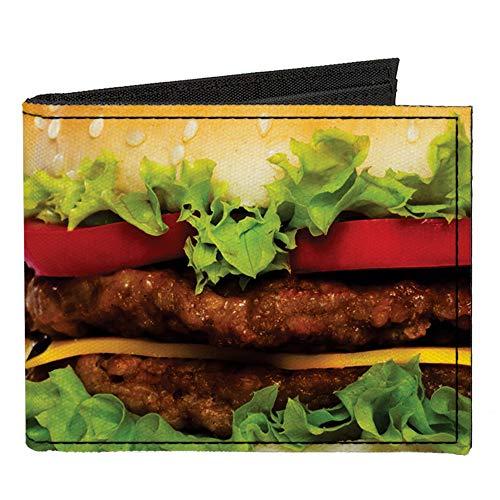 Canvas Bi-Fold Wallet - Hamburger Vivid