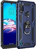 FTRONGRT Hülle für Motorola Moto E7i Power,Doppelschicht-Design(TPU+PC) Stoßfest Hybrid Robuste Schutzhülle Mit Standfunktion,Hülle für Motorola Moto E7i Power-Blau