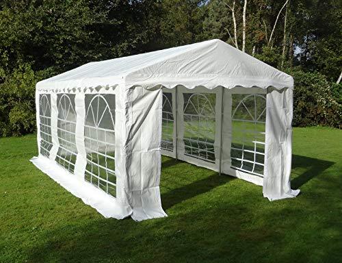 Dancover Partyzelt Pavillon Festzelt Plus 4x6m PE, Weiß