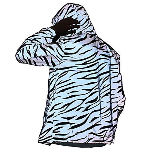 NewL Chaqueta ligera reflectante para hombre y mujer, estilo de malla, impermeable Gris gris S
