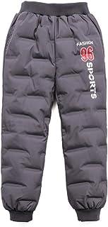 HOSD nuevos Pantalones de plumón para niños Pantalones de plumón para bebés más Terciopelo Engrosamiento de niños Grandes ...
