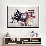hetingyue Rahmenlose Graffiti Moderne Kunst Bank straßenmalerei Tier Poster und wandbild Retro malerei Dekoration Poster 60x90 cm
