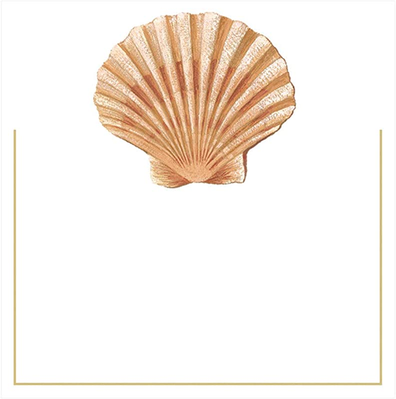 Caspari Seaside Shell Die Cut Place Cards 24 Included