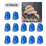 AXROAD MALL 12pcs Guitare Accessoires Kit Fingertip Protector Grilles De Protection for Guitare Acoustique Ukulele Kalimba Starter Et Autres Instruments À Cordes (Color : Dark Blue, Size : S)