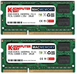 Komputerbay MACMEMORY 16GB (2x 8GB) PC3-12800 1600MHz SODIMM 204-Pin Laptop Memory 10-10-10-27 for Apple Mac