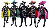 I LOVE FANCY DRESS LTD Sugar Skull KOSTÜM VERKLEIDUNG =Bodysuit/Skinsuit = 4 VERSCHIEDENEN FARBENDE...