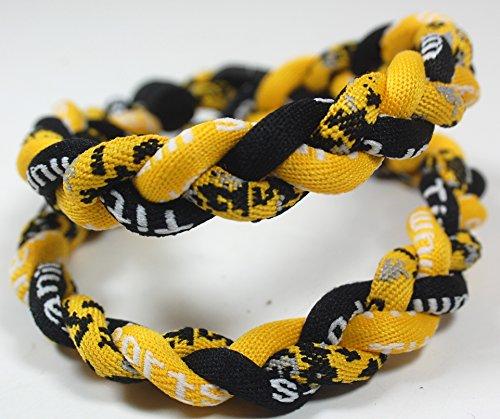 18' Digital Camo Tornado Necklace - Yellow Black w/ Case