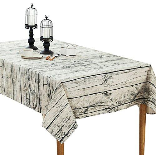 Da. WA 1 pcs rectangulaire coton Lin Naturel en bois Coton Nappe, bois, L