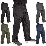 Lee Cooper Mens Classic Workwear Pant Cargo Trouser, Black, 32W/31L (Regular)