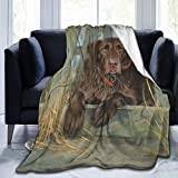 Yulimin Labrador Dog Lab Chocolate Cute Full Fleece Throw Cloak Wearable Blanket Nursery Bedroom Bedding Decor Decorations Queen King Size Flannel Fluffy Plush Soft Cozy Comforter Quilt