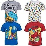 Sesame Street Toddler Boys 4 Pack Crew Neck T-Shirts 2T