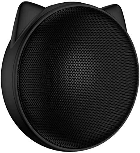 Mopoq Bluetooth Lautsprecher - Wireless Mini Compact Audio Tragbare Portable Player Außerhalb Handy-Verstärker-Computer im Freien Audio Creative-Lautsprecher (Color : Schwarz)