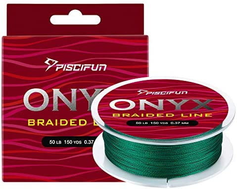 Piscifun Onyx Braided Fishing Line Advanced Superline Braid Lines 150Yd 8lb Green product image