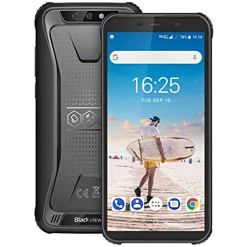 Blackview BV5500 Outdoor Smartphone ohne Vertrag Günstig - 5.5 Zoll (13.9cm) HD Bildschirm, 4400mAh Akku, 2GB/16GB 32GB erweiterbar, 8MP+0.3MP und 5MP, Dual SIM Handy - Face ID/OTG/GPS - Schwarz