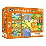 Galt Toys- 4 Puzzles in a Box-Jungle 4 Puzles En Una Caja – Selva, Multicolor (1) , color, modelo surtido