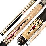 Tai ba cues HitsX 2-Piece Pool cue Stick, 13mm Tip, 58', Hardwood Canadian Maple Professional Billiard Pool Cue Stick 18,19,20,21 Oz Pool Stick (Selectable)-Blue, Black