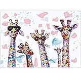 Kit de Pintura de Diamante 5D DIY 40 * 30 cm Familia de Jirafas Punto de Cruz Diamante Painting Kit Completo Cuadros en Punto de Cruz