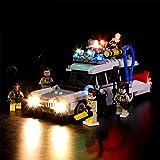 ADMLZQQ Conjunto de Luces (Cazafantasmas Ecto-1) Modelo de Construcción de Bloques - Kit de luz LED Compatible con Lego 21108(NO Incluido en el Modelo)
