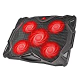 havit 5 Fans Laptop Cooling Pad for 14-17 Inch Laptop, Cooler Pad with LED Light, Dual USB 2.0...