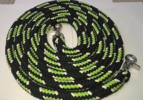Baumwollzügel extra schwer Kernmantelseil 3,00 mtr schwarz/grün/natur geschlossen