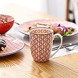 Vancasso Tafelservice Porzellan, Tafelservice bunt, Macaron 48 teilig Geschirrset, mit je 12 Speiseteller, Dessertteller, Müslischalen und Kaffeebecher für 12 Personen - 5