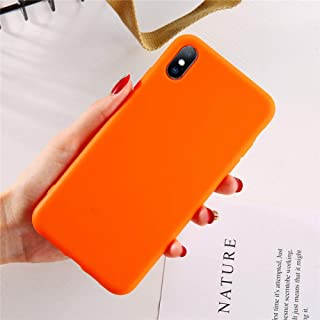 ZXSJK Candy Color Phone Case For Iphone Xs Max Xr Xs X 8 Plus Simple Plain Silicone Cover For Iphone 6 6S 7 Plus Soft Tpu Case,For iPhone 7