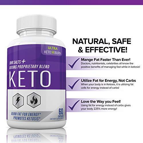 (5 Pack) Ultra Keto X Burn Shark Tank 800 mg, Ultra Keto X Burn Diet Pills Tablets Capsules, Pure Keto Fast Supplement for Energy, Focus - Exogenous Ketones for Men Women 2