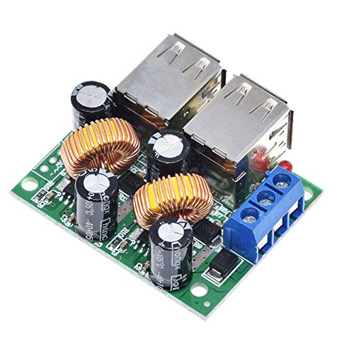 Compatibele Vervangings 4 USB-poort A5268 aftreden Power Supply Converter Board Module DC 12V 24V 40V naar 5V 5A for MP3 / MP4 Telefoon Auto accessoires-