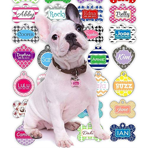 Personalized Dog Tag for Dogs and Cats | Design Your Own Single or Double-Sided Pet Tags | Unique Dog Gifts for Dog Lovers