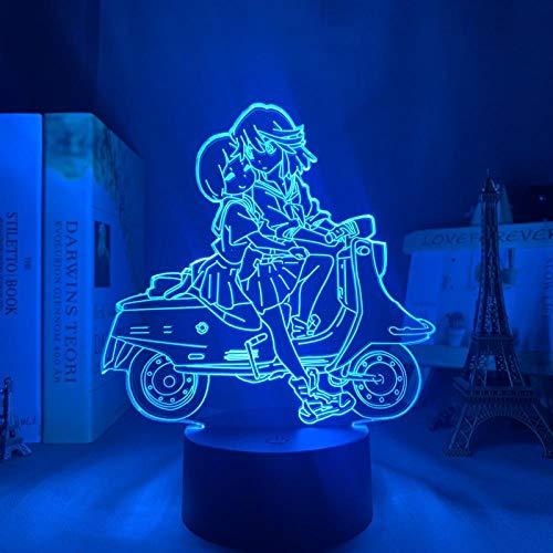 Luz nocturna 3D Night Light Töte La Kill Ryuko Matoi - Lámpara LED nocturna para dormitorio o decoración de regalo, diseño de anime 3D de Ryuko Matoi Kill La Trolle MBFT